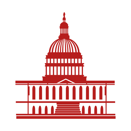 united states of america capitol building vector illustration design