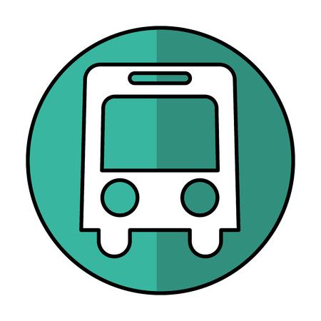 bus vehicle isolated icon vector illustration design Illustration