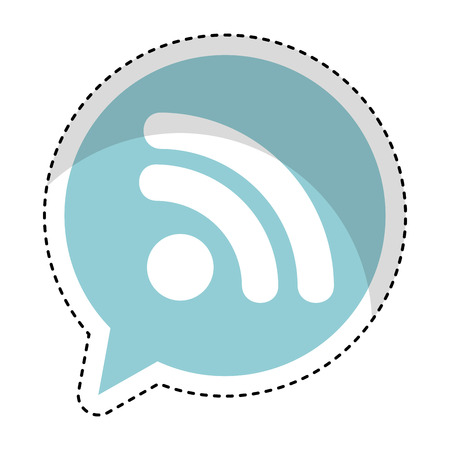 speech bubble with wifi signal connection icon vector illustration design Illustration