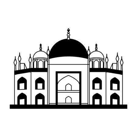 바티칸 대성당 고립 된 아이콘 벡터 일러스트 디자인