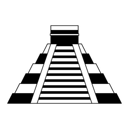 kukulkan: mayan pyramid isolated icon vector illustration design