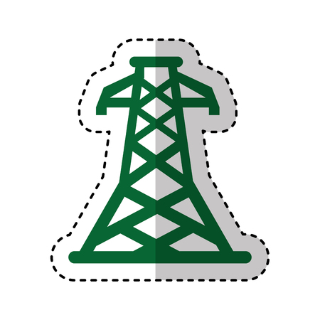 high tension: energy tower isolated icon vector illustration design Illustration