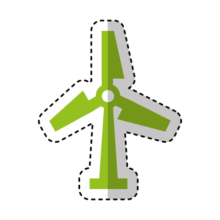windmill energy isolated icon vector illustration design
