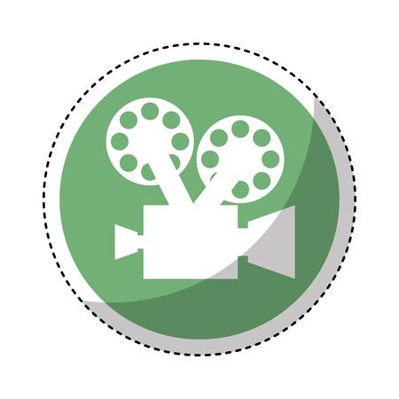 Cámara de vídeo retro icono de diseño de ilustración vectorial Foto de archivo - 75681227