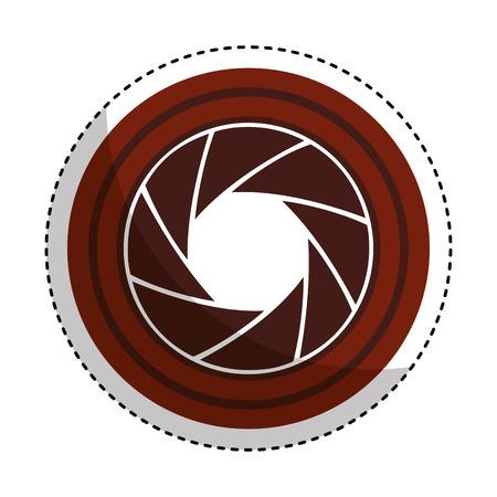 lens camera isolated icon vector illustration design Illustration