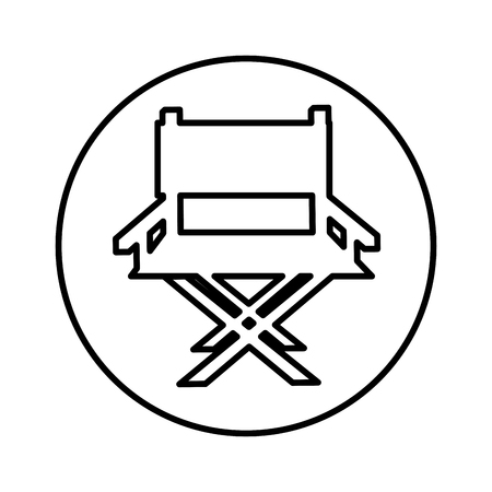 director chair isolated icon vector illustration design Illustration