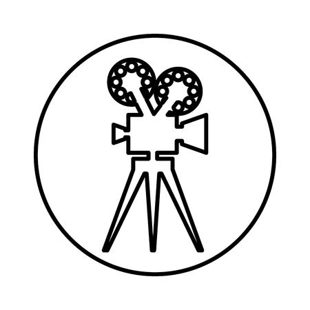 video camera retro icon vector illustration design