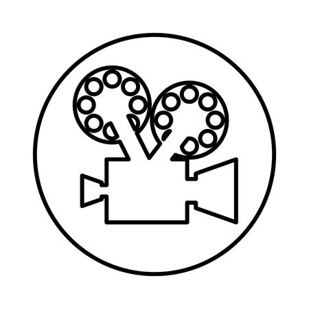 cinematograph: video camera retro icon vector illustration design
