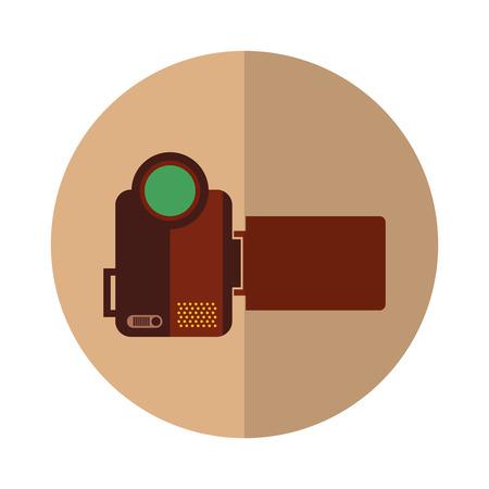 handycam: video handycam isolated icon vector illustration design Illustration