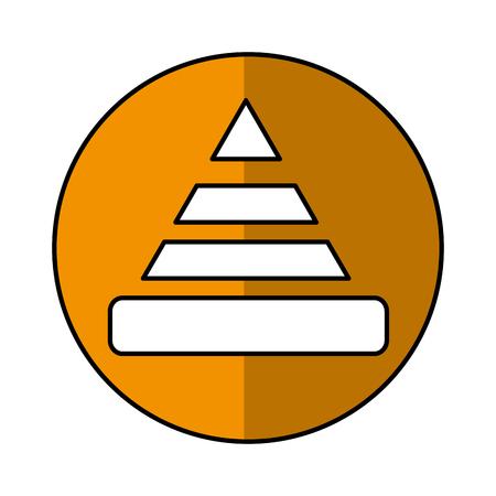 construction cone isolated icon vector illustration design Illustration
