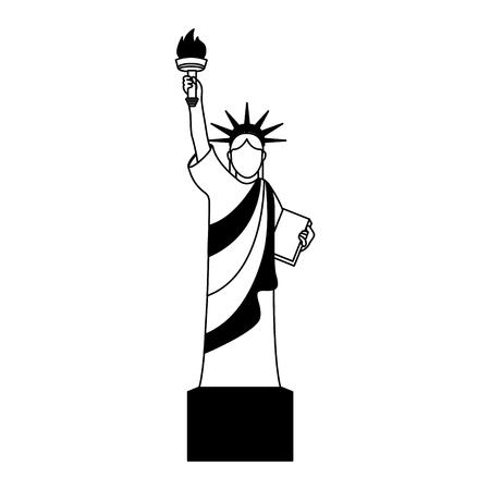 liberty statue isolated icon vector illustration design Stok Fotoğraf - 75681506
