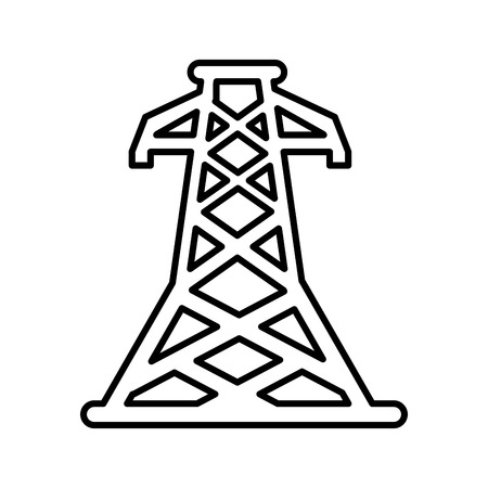 energy tower isolated icon vector illustration design Иллюстрация