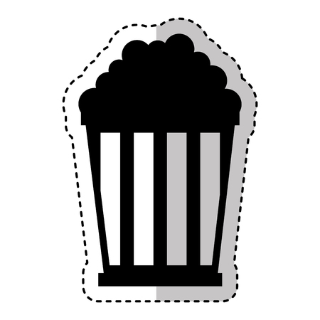 pop corn isolated icon vector illustration design Illustration