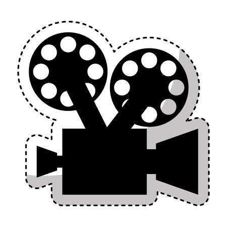 Cámara de vídeo retro icono de diseño de ilustración vectorial Foto de archivo - 75681520
