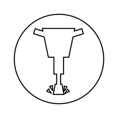 Hydraulikhammer isoliert Symbol Vektor-Illustration, Design,