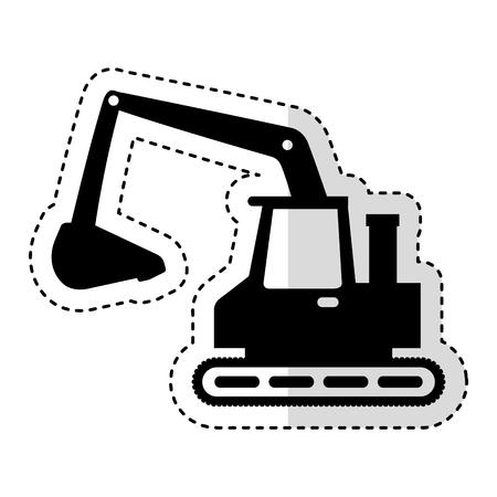 ショベル機械分離アイコン ベクトル イラスト デザイン