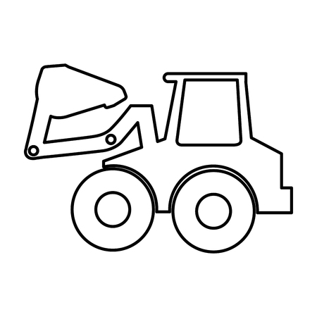 excavator machine isolated icon vector illustration design