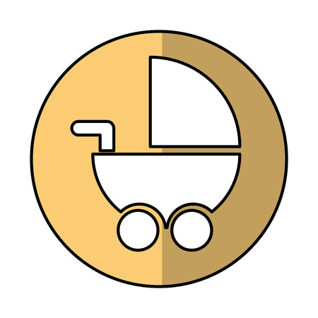 babysitting: baby cart isolated icon vector illustration design Illustration