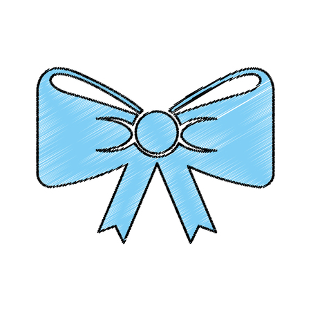 bow with ribbon isolated icon vector illustration design