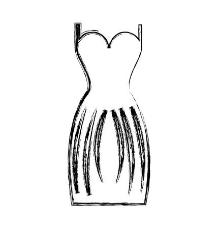 elegant female dress icon vector illustration design