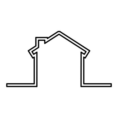 house exterior isolated icon vector illustration design Illusztráció