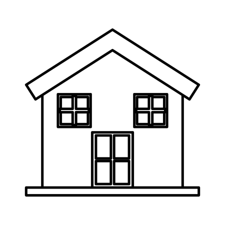 house exterior isolated icon vector illustration design Çizim