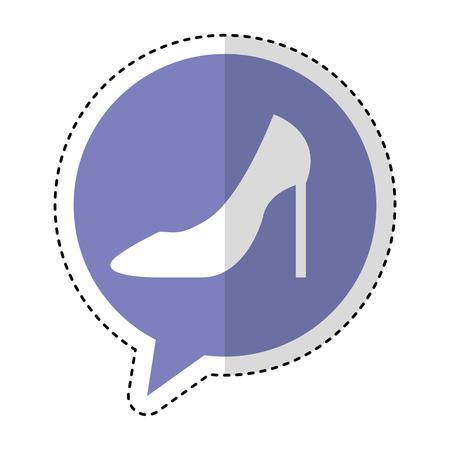 female shoes heel icon vector illustration design Illustration