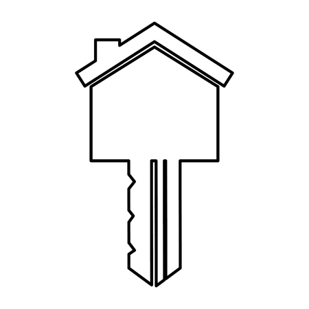 key house silhouette isolated icon vector illustration design Çizim