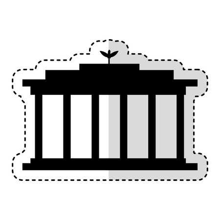 European Parliament isolated icon vector illustration design Çizim