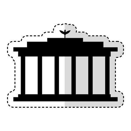 European Parliament isolated icon vector illustration design Illustration