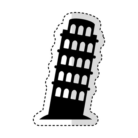 tower of Pisa icon vector illustration design