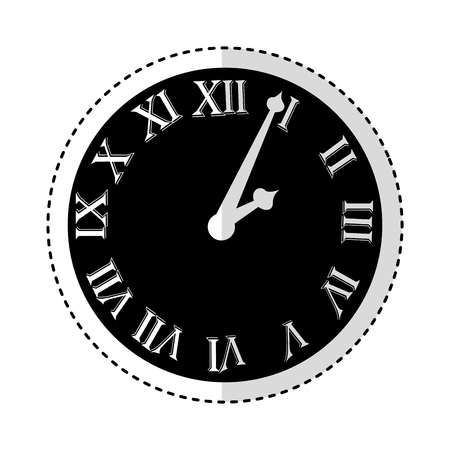 watch with roman numbers vector illustration design