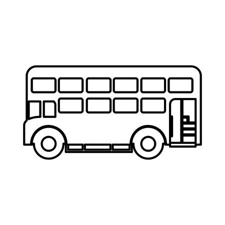 london bus isolated icon vector illustration design