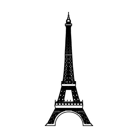 eiffel tower isolated icon vector illustration design Illustration