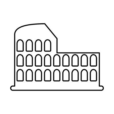 roman coliseum ruins isolated icon vector illustration design Ilustrace