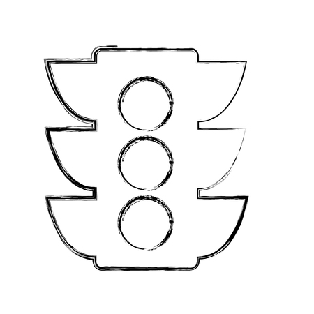 regulate: light traffic isolated icon vector illustration design