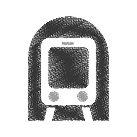 subway transport isolated icon vector illustration design Illustration