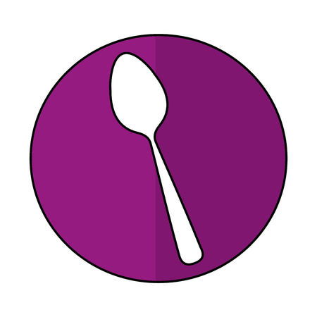 spoon kitchen cutlery isolated icon vector illustration design