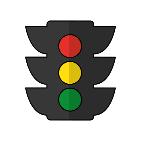 light traffic isolated icon vector illustration design