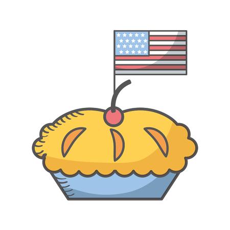 delicious pie isolated icon vector illustration design