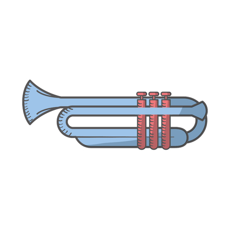 trumpet instrument isolated icon vector illustration design