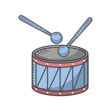 drump instrument isolated icon vector illustration design