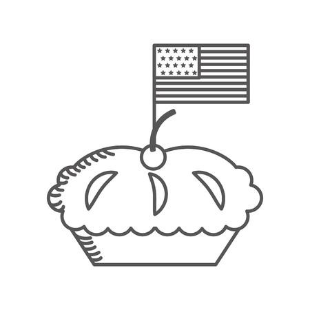 Köstliche Torte isoliert Symbol Vektor-Illustration Design Standard-Bild - 75771004
