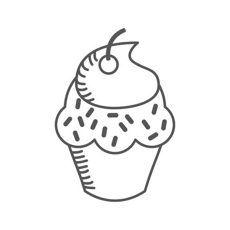 Köstlichen kleinen Kuchen isoliert Symbol Vektor-Illustration, Design, Standard-Bild - 75771011