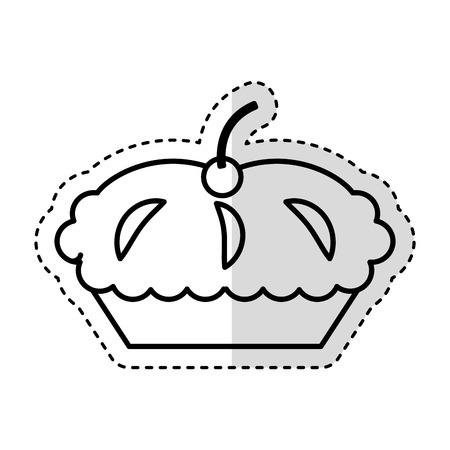 Köstliche Torte isoliert Symbol Vektor-Illustration Design Standard-Bild - 75771021