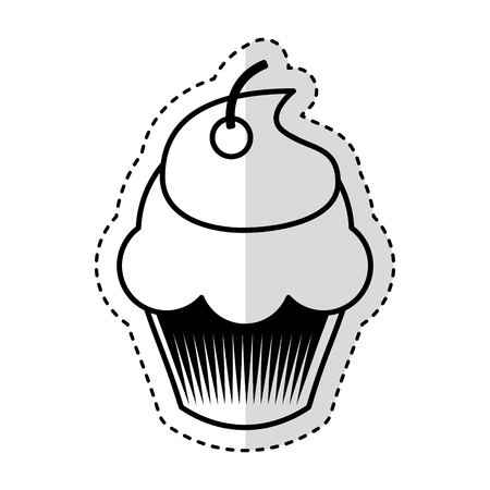 delicious cupcake isolated icon vector illustration design Banco de Imagens - 75771029