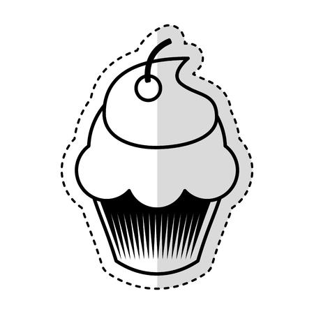 Köstlichen kleinen Kuchen isoliert Symbol Vektor-Illustration, Design, Standard-Bild - 75771029