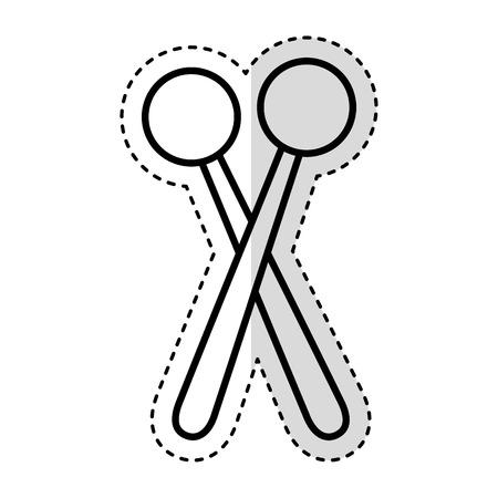 Drum sticks vector illustration vector illustration design Illustration