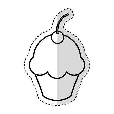 Köstlichen kleinen Kuchen isoliert Symbol Vektor-Illustration, Design, Standard-Bild - 75771047
