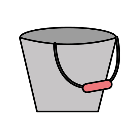 paint container: Metal bucket isolated icon vector illustration design
